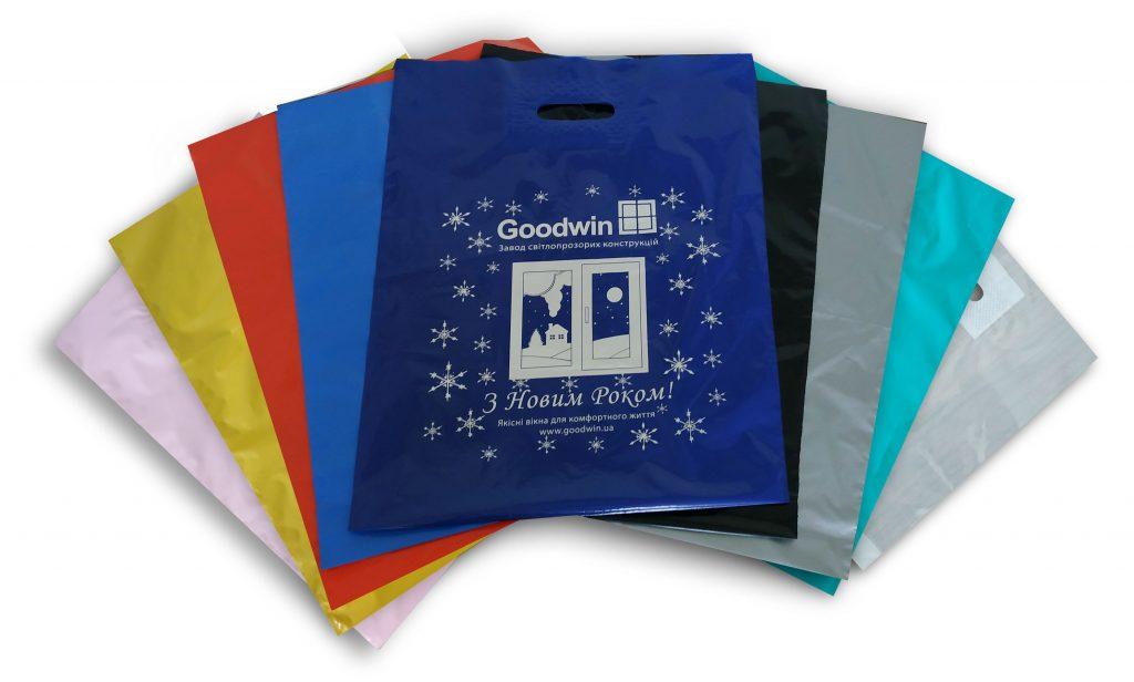 Цветные пакеты банан с логотипом